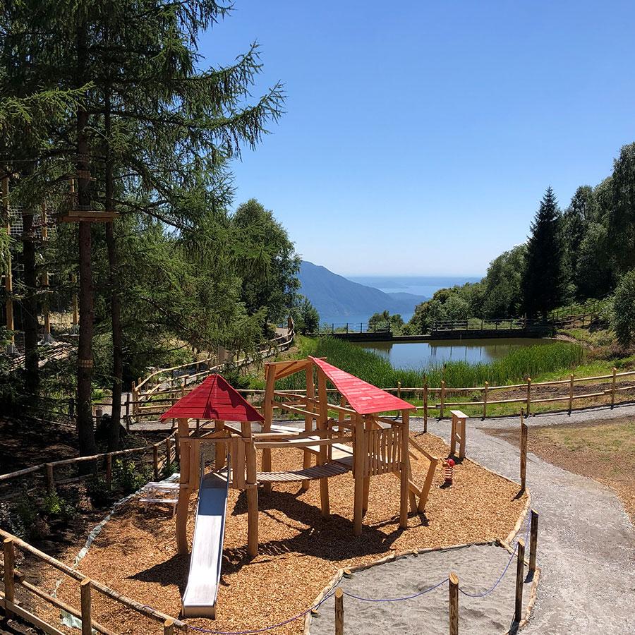 Vista spettacolare sul lago Maggiore da Wonderwood